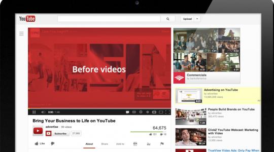 quảng cáo trước video youtube