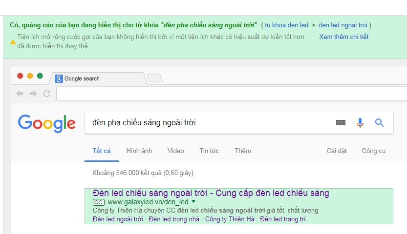 Dịch vụ quảng cáo từ khóa google