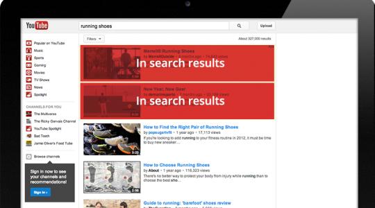 quảng cáo youtube trong kết quả tìm kiếm