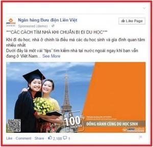 Demo quảng cáo bài viết Facebook