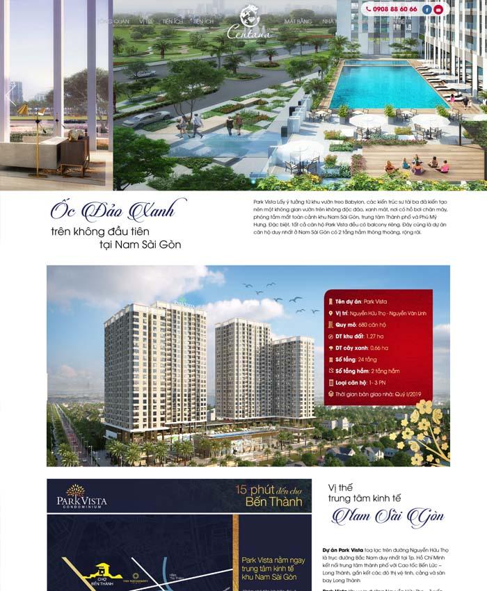 Thiết kế website dự án bất động sản tại TPHCM