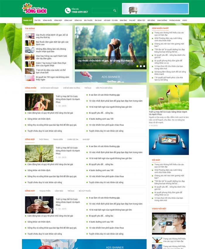 mẫu website Tin tức sức khỏe