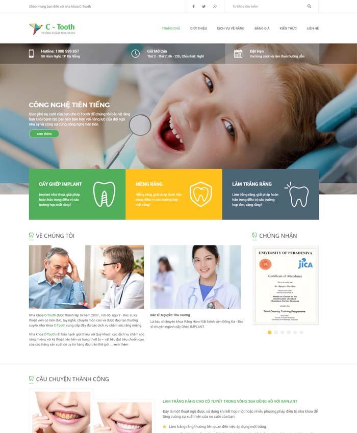 mẫu thiết kế website Bác sĩ nha khoa