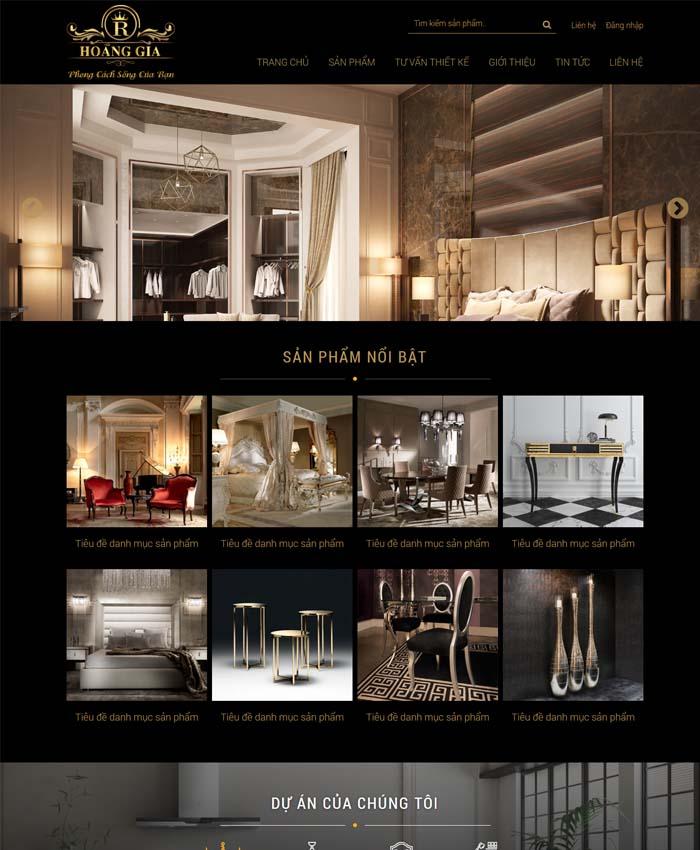 mẫu thiết kế website Nội thất trang trí