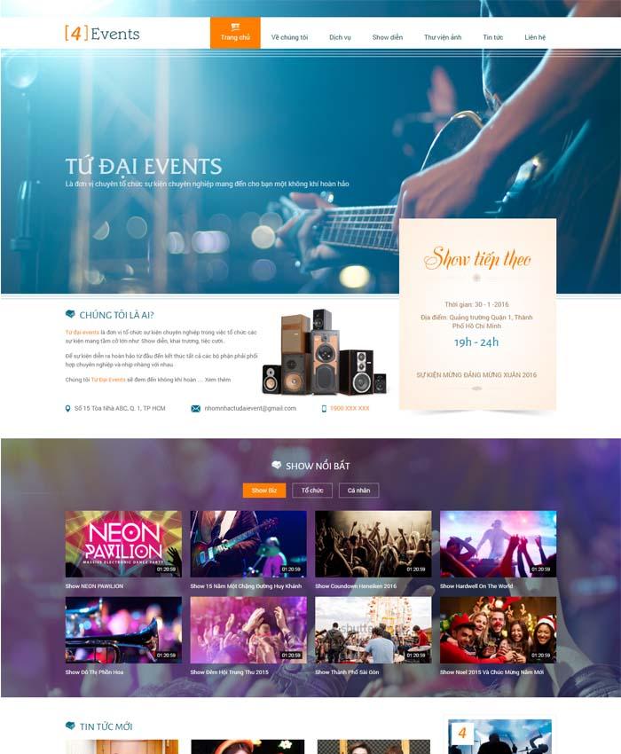 mẫu website Truyền thông sự kiện