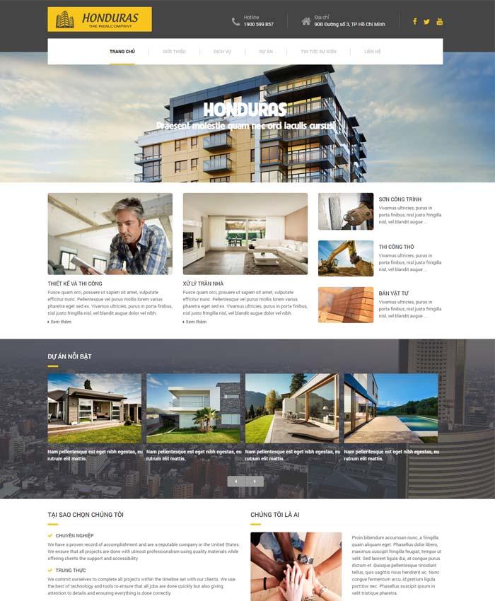 mẫu thiết kế website Công ty xây dựng
