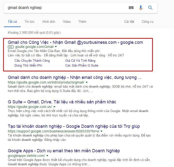 công ty quảng cáo từ khóa Google Adwords tại tphcm