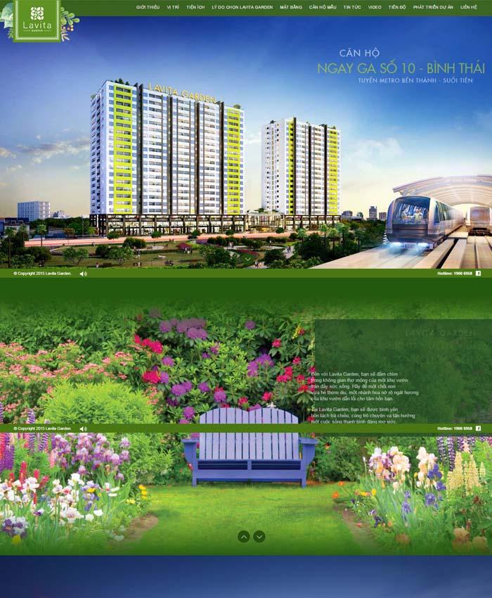 Thiết kế website bất động sản dự án Lavita Garden