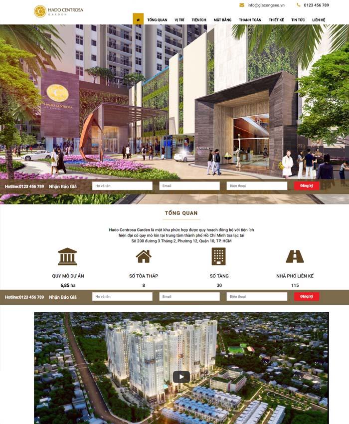 Thiết kế landing page bất động sản giá rẻ