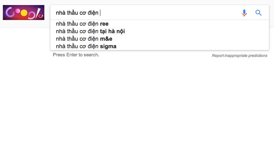 báo giá quảng cáo google adwords Adtimin từ khóa Nhà Thầu Cơ Điện, Cơ Điện Công Trình