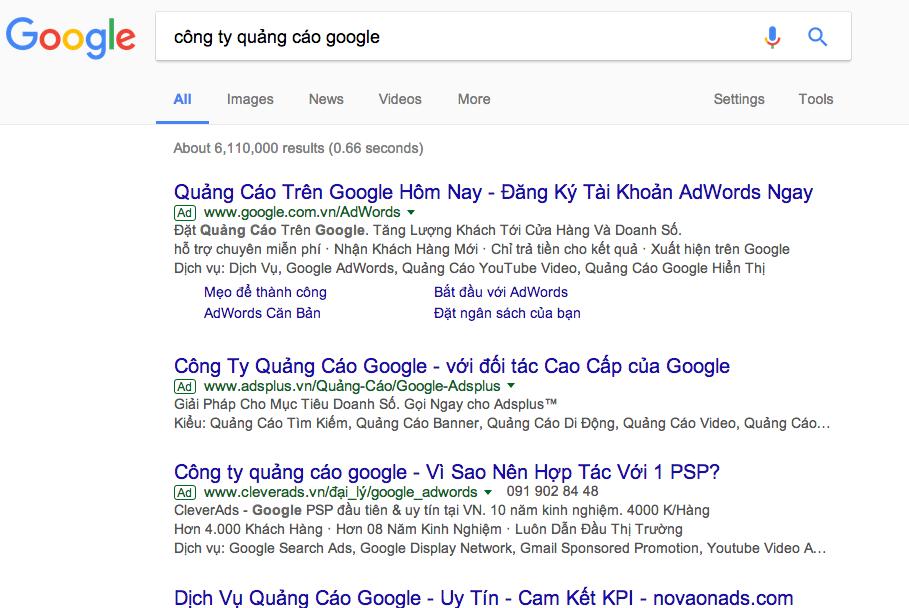 công ty quảng cáo Google Đồng Nai