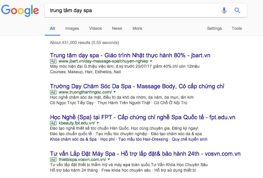 công ty quảng cáo Google Long An