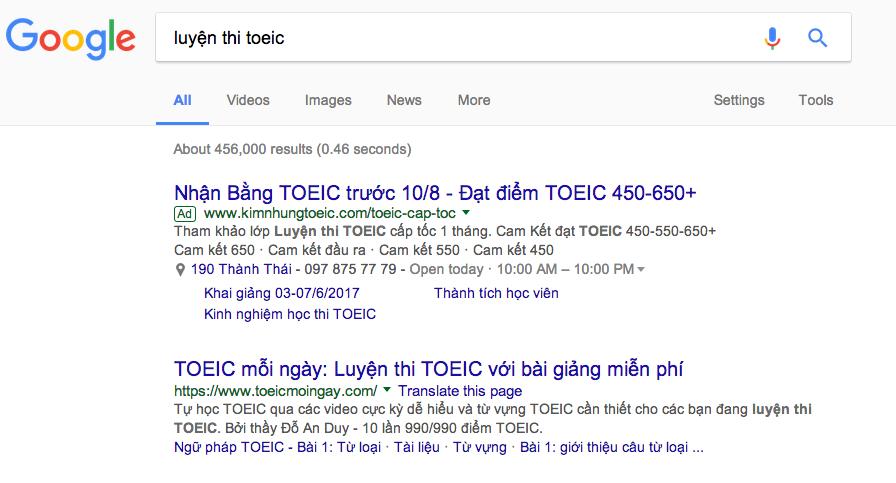 cách quảng cáo google adwords hiệu quả