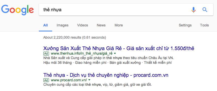 dịch vụ quảng cáo goolge adwords tại huyện Cần Giờ