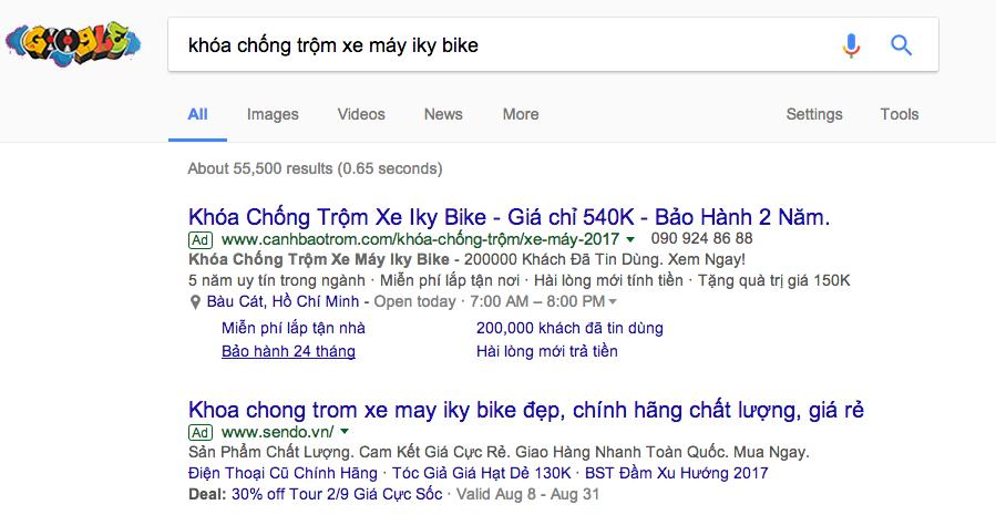 đối tác chạy quảng cáo từ khóa Google Adwords