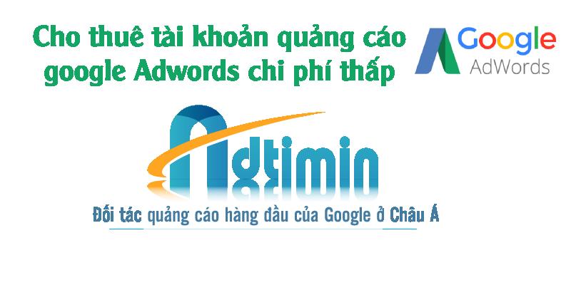 Adtimin _ Cho thuê tài khoản quảng cáo Google Adwords