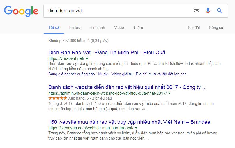 Adtimin đã đẩy rất nhiều từ khóa có lượng traffic cao lên top Google
