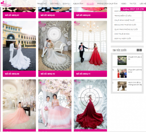 Thiết kế Website áo cưới tại Vũng Tàu chuyên nghiệp