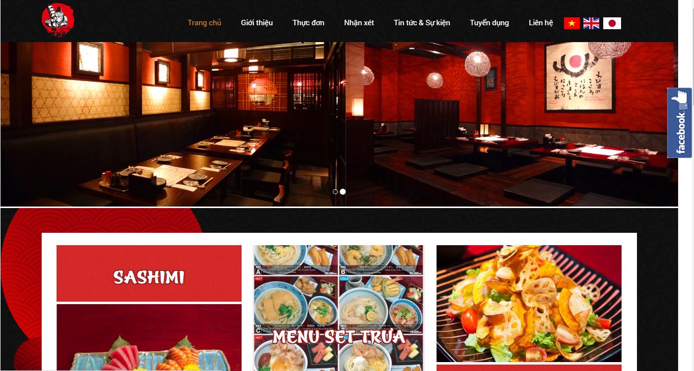 Thiết kế Website nhà hàng giá rẻ TP.HCM