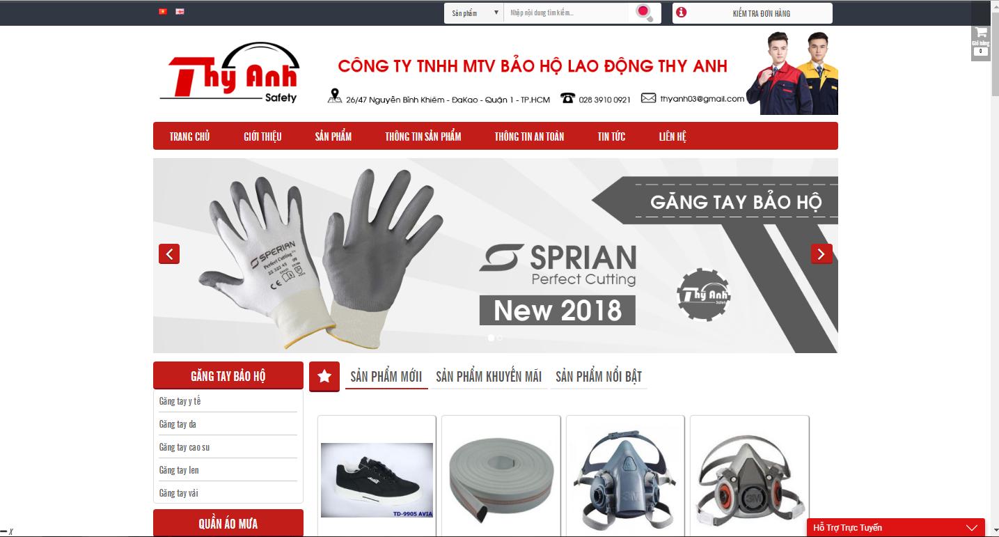 Website mẫu bảo hộ lao động 1
