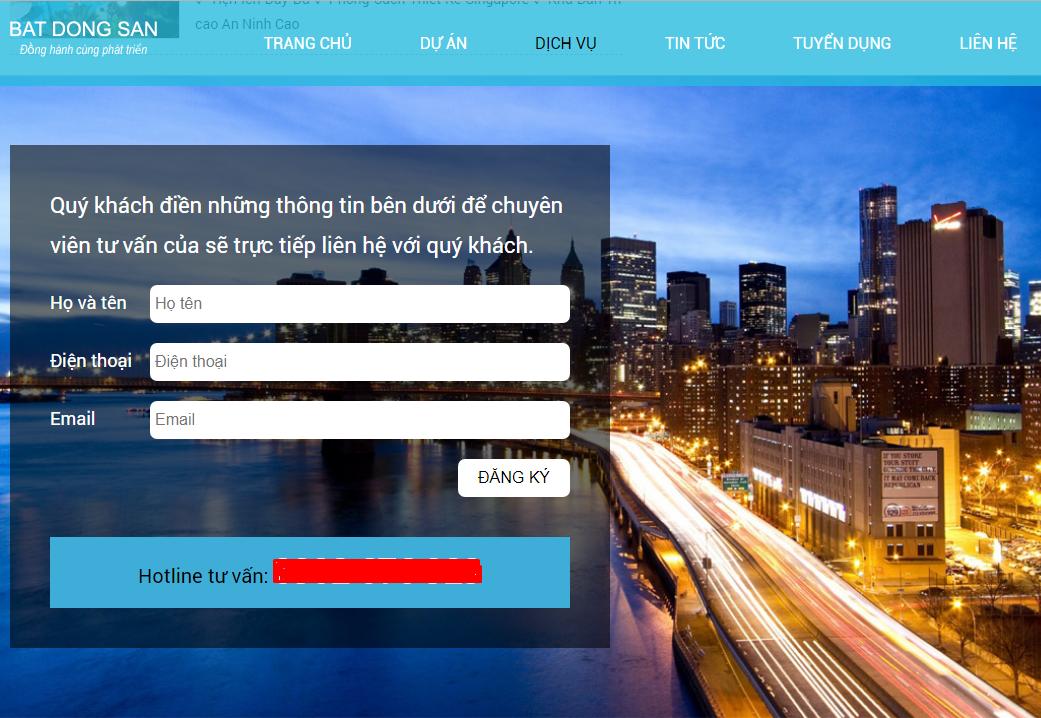 Lấy số điện thoại khách hàng thông qua Landing Page