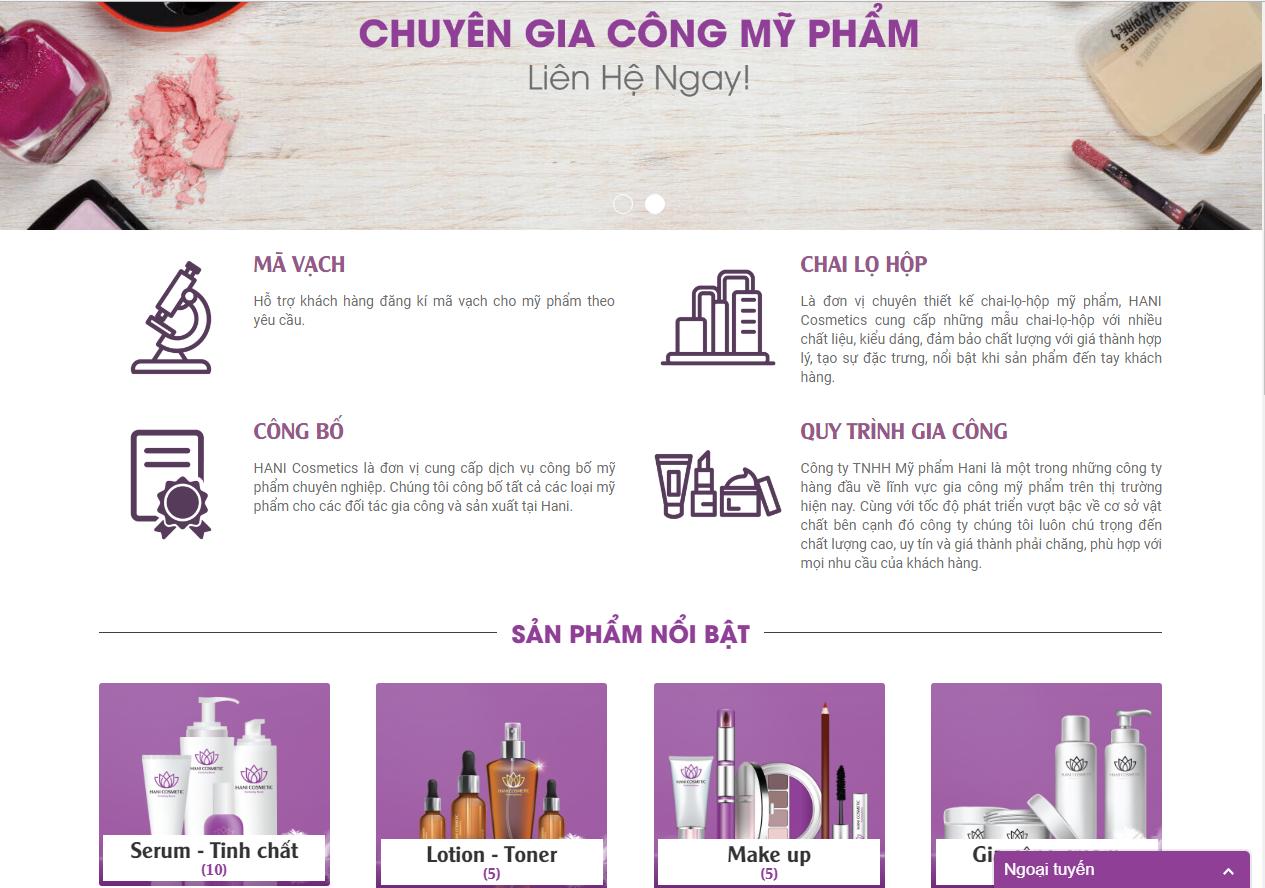 Thiết kế Website bán hàng online giá rẻ tại TP.HCM
