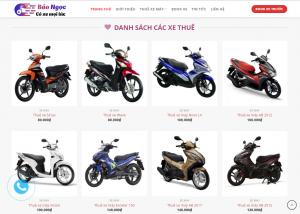 Mẫu thiết kế Website cho thuê xe uy tín tại Đà Nẵng