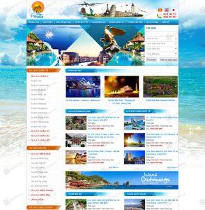 Mẫu thiết kế Website du lịch tại Bạc Liêu