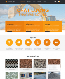 Mẫu thiết kế Website vật tư Bạc Liêu