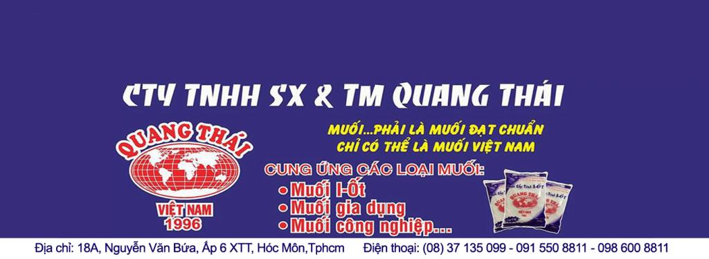 Công ty cung cấp muối uy tín chất lượng Quang Thái