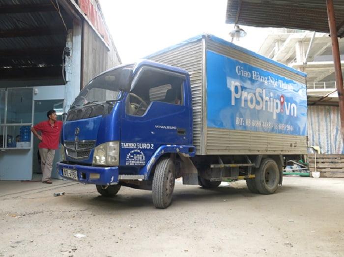 Dịch vụ cho thuê xe tải chở hàng tại Proship